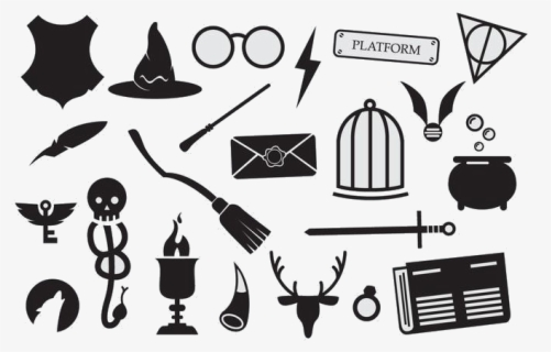 harry potter harry potter icons vector png free transparent clipart clipartkey harry potter icons vector png free