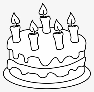 Free Birthday Cake Black And White Clip Art with No Background - ClipartKey