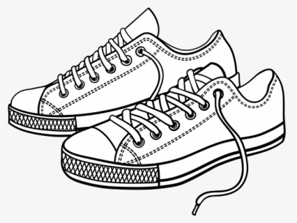 Coloring Shoes Tennis Shoes Side Cartoon Shoes Clip Art Free Transparent Clipart Clipartkey