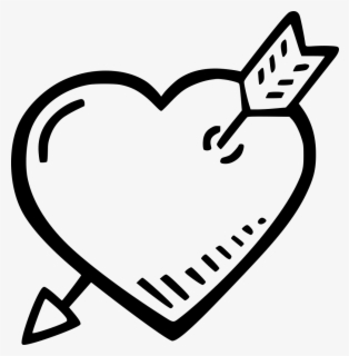 Heart And Arrow Comments - Heart, Transparent Clipart
