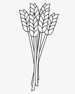 Agriculture Clipart of a Wheat Bound by Rope on White by C Charley-Franzwa  - #463