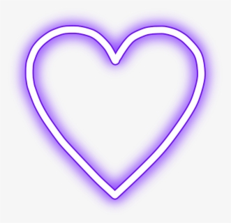 Crown Glowing Heart Snapchat Neon Purple Picsart Neon Glowing Png Free Transparent Clipart Clipartkey