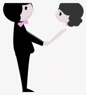 Wedding Clipart No Background - Gambar Pernikahan Kartun Hitam Putih , Free  Transparent Clipart - ClipartKey