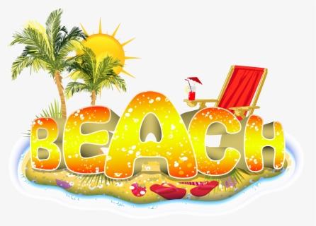 Beach Vector Png Summer Beach Logo Design Free Transparent Clipart Clipartkey