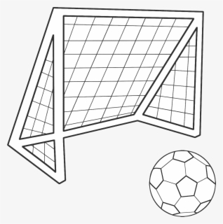 Transparent Football Goal Png Soccer Goal Drawing Easy Free Transparent Clipart Clipartkey