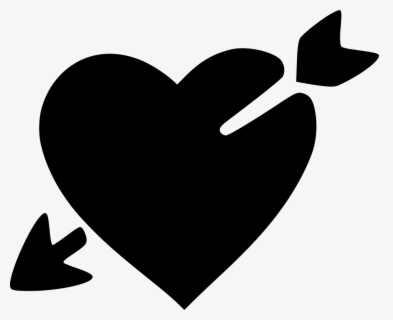 Png File Svg - Cupid Heart Clipart Black And White, Transparent Clipart