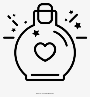 Valentines Day Coloring Page - Coloring Book, Transparent Clipart