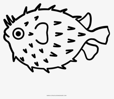 Clip Art Puffer Fish Drawing - Im Hooked On You, Transparent Clipart