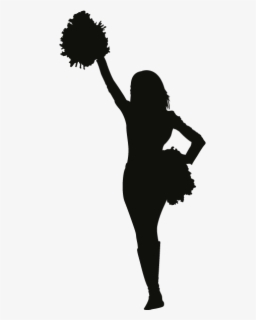 Cheerleader Silhouette / Ai (adobe illustrator) eps (encapsulated postscript).