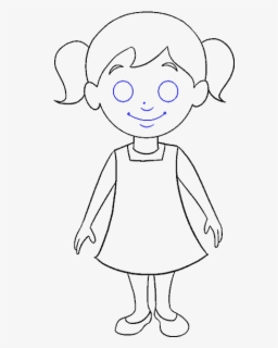 How To Draw Cartoon Girl Easy Cartoon Little Girls Free