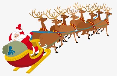 Santa and His Sleigh Clip Art