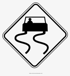 Vector Slippery Road Sign Icon - Download Free Vectors, Clipart Graphics &  Vector Art